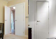 Mẫu cửa gỗ MDF màu trắng rất sang trọng