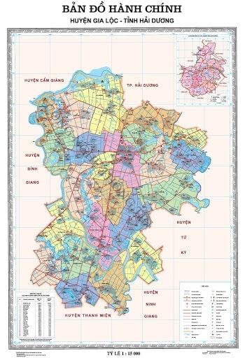 Vị trí của huyện Gia Lộc